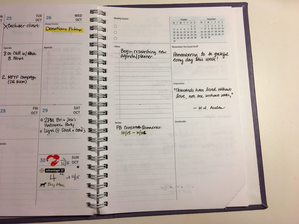 2016 Agendio Weekly Spread